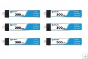 BETAFPV 300mAh 1S 30C 4.35V HV Lipo Battery (6pcs) Free Box